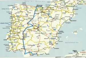Outward road map from Bilbao