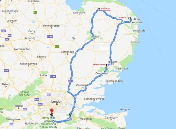 Norfolk Google Map